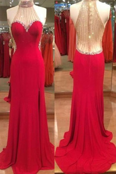 Sexy Prom Dresses Mermaid Prom Dress ,Prom Dress,Prom Dresses,Evening Dress ,Party Dresses, Long Prom Dresses,Halter Prom Dress,Beading Prom Dresses,Beaded Prom Dress,Backless Prom Dress E68