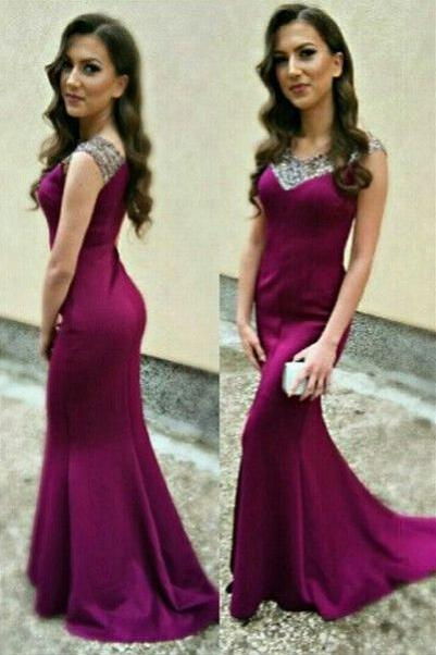 Elegant Prom Dresses Mermaid Prom Dress ,Prom Dress,Prom Dresses,Evening Dress ,Party Dresses, Long Prom Dresses,V-neck Prom Dress,Beading Prom Dresses,Beaded Prom Dress,Plus Size Prom Dress,Cap Sleeves Prom Dress E70