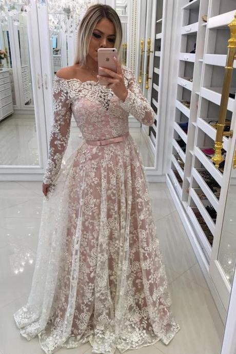 Full Lace Prom Dress Off-shoulder P215