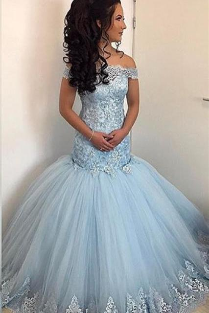 Long Lace Mermaid Formal Dress E440