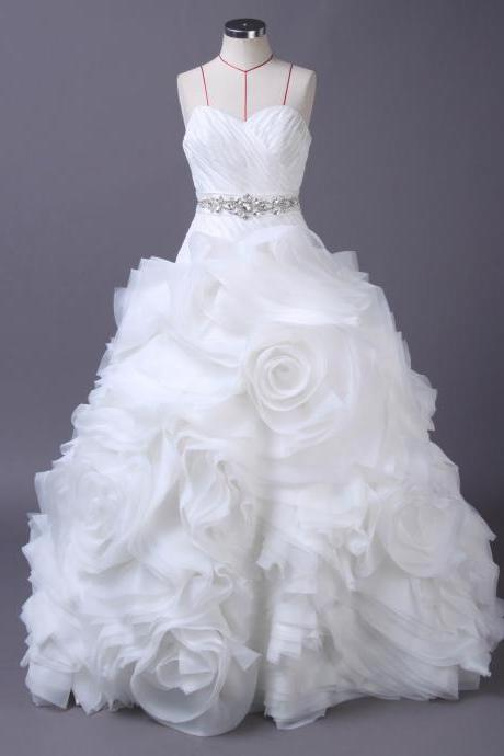Ruched Wedding Dress